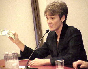 Heather Wilson Receiving Campaing Donation